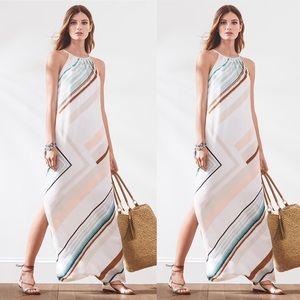 White House Black Market Stripe Maxi Dress